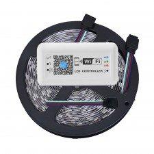 Banda cu leduri de interior Wireless Light Strip LED RGB TarTek T10, 10m, control inteligent WIFI si telecomanda