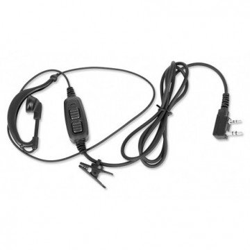 Casti ear-loop Baofeng cu microfon pentru statii radio portabile Baofeng, Wouxun, Puxing, Kenwood