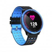 Ceas Smart MediaTek M71 Blue Edition, monitorizare activitate cardiaca, tensiune arteriala, fitness