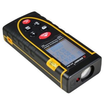 Telemetru laser profesional 50 m, SNDWAY, seria SWT-70, precizie +/- 2mm, protectie IP54 (ploaie si praf), boloboc, placa reflectoare, nivela circulara cu bula