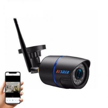 Camera de supraveghere BESDER 2MP Wifi 1080P, CCTV wireless si fir ONVIF cu slot microSD (max 32GB)