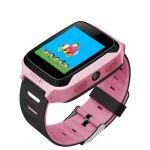 Smartwatch copii MediaTek Q528 Roz, lanterna, cu functie telefon