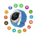 Ceas Smartwatch MediaTek Y1 Blue, Ecran Touchscreen, Bluetooth, SIM Notificari, Pedometru