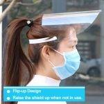 Ecran transparent pentru protectie faciala