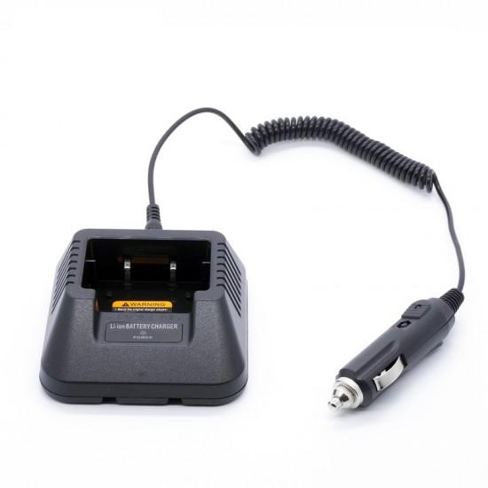 Incarcator auto pentru statii BAOFENG UV-5R, cu adaptor pentru bricheta si baza incarcare