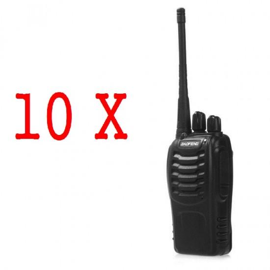 Set 10 statii radio portabila emisie receptie, PROGRAMATAE in banda de licenta libera, Walkie Talkie, Baofeng BF-888S