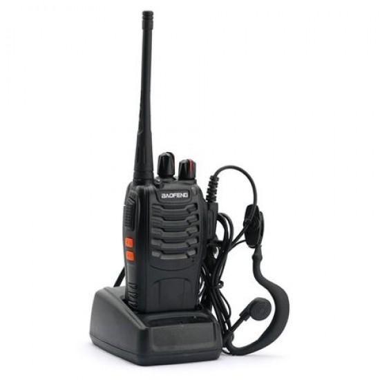 Statie radio portabila emisie receptie , Walkie Talkie, Baofeng BF-888S cu casti incluse