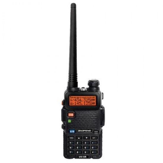 Statie radio portabila emisie receptie, Walkie Talkie Baofeng UV-5R  - 8W, 136 - 174 MHz / 400-520 Mhz