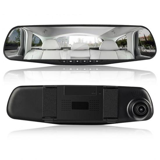 Oglinda Camera Video Auto ML808 DVR FullHD Dubla cu Ecran 5 inchi cu camera de mers inapoi
