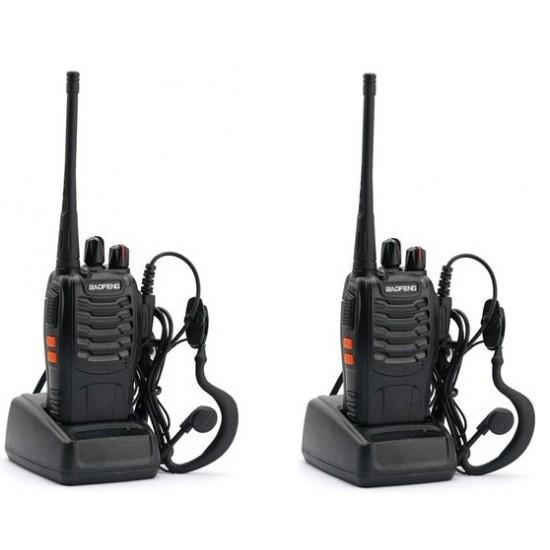 Set 2 statii radio portabila emisie receptie , Walkie Talkie, Baofeng BF-888S