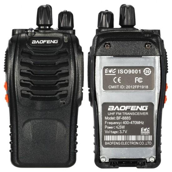 Set 10 statii radio portabile emisie receptie PROGRAMATE in banda de licenta libera, Walkie Talkie, Baofeng BF-888, cu casti incluse
