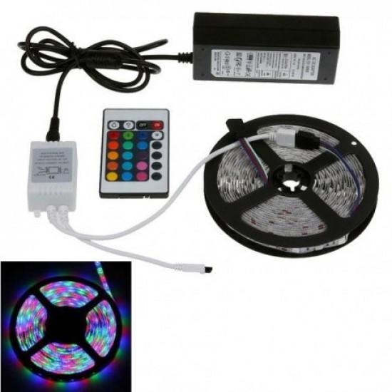 Banda cu leduri de interior Wireless Light Strip LED RGB TarTek T2, 2m, control inteligent WIFI si telecomanda