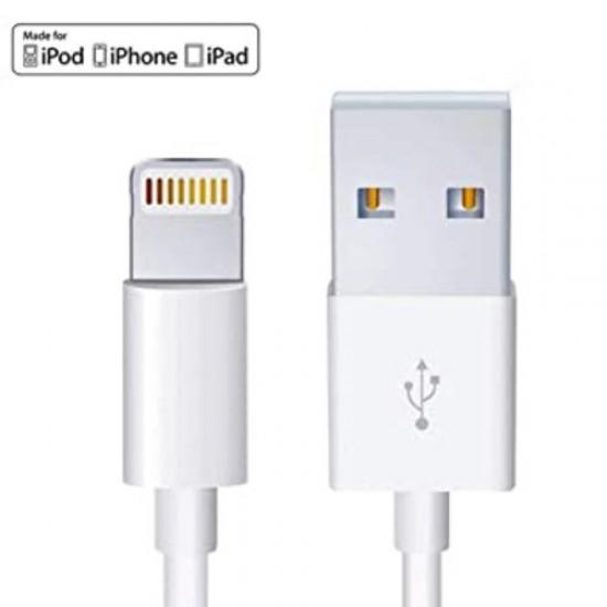 Cablu incarcare si date Apple iPhone original cu mufa lightning, TarTek, original pentru iPhone 5, 5S, 5c, SE, 6, 6 Plus, 6s, 6s Plus, 7, 7 Plus, 8, 8 Plus, X, XR, XS, XS Max, 11, 11 Pro, 11 Pro Max, 12, Alb, 2 m, original (Foxconn)