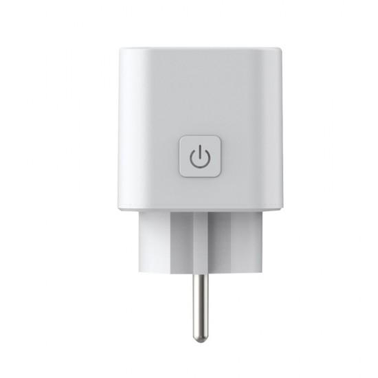 Priza inteligenta, 16A, Wi-Fi, monitorizare consum, compacta, alb