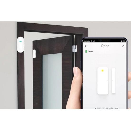 Senzor de usa/fereastra WiFi TarTek Smart, 2 x AAA, Alb