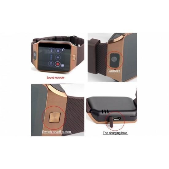 Ceas SmartWatch metalic TarTek™ - DZ09 Gold Edition