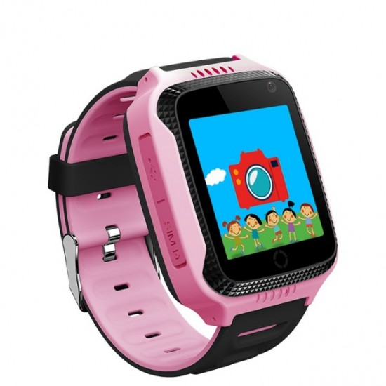 Smartwatch copii TarTek™ Q528 Roz, lanterna, cu functie telefon
