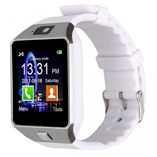 Ceas SmartWatch metalic TarTek™ - DZ09 White Edition