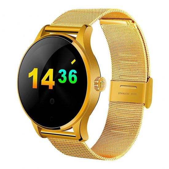 Ceas Smartwatch TarTek™ K88H Android si IOS, Metalic, Gold Edition