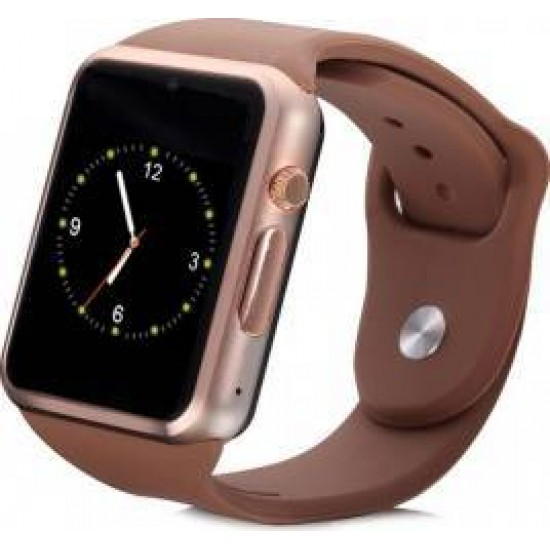 Ceas SmartWatch TarTek™- Watch  Brown Edition, Telefon microSIM, microSD camera