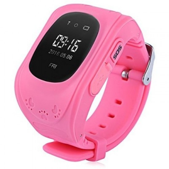 Ceas Telefon Smartwatch  monitorizare copii TarTek™ Q50, Roz cu GPS