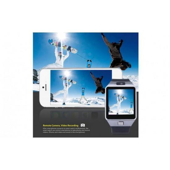 Ceas SmartWatch metalic TarTek™ - DZ09 Black Edition