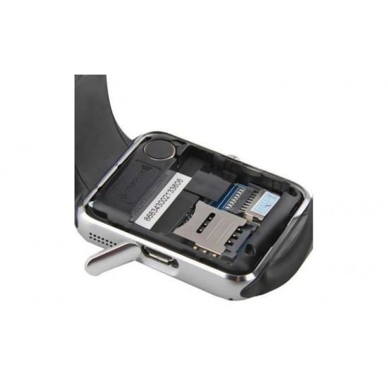 SmartWatch TarTek™ GT08 telefon, camera, pedometru, bluetooth, microsim Silver Edition