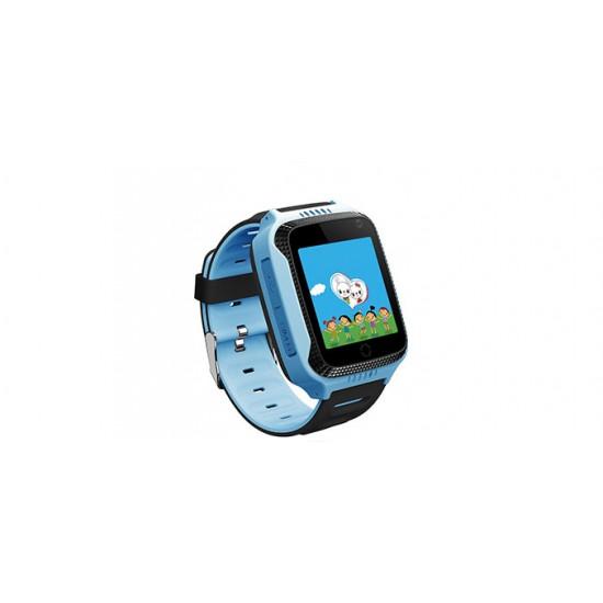 Smartwatch copii TarTek™ Q528 Albastru, lanterna, cu functie telefon