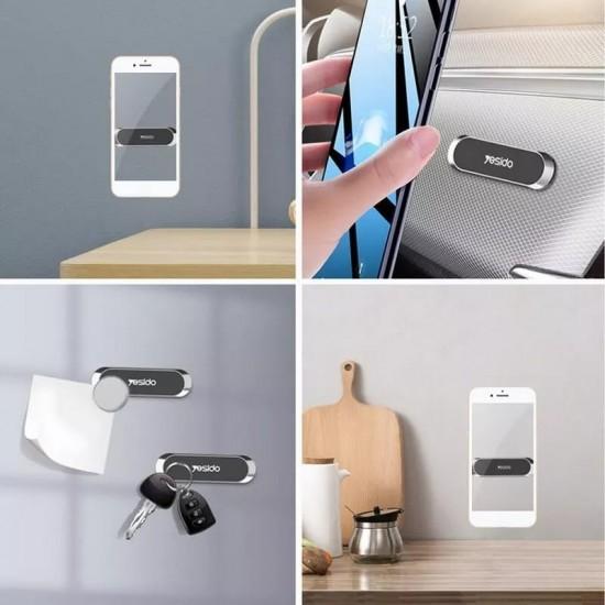 Suport Auto Pentru Telefon Yesido C55 upgrade, Space Grey, Magnetic