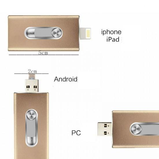 iStick - stick-ul USB 32 GB pentru iPad, iPhone, Android si PC cu conector Lightning