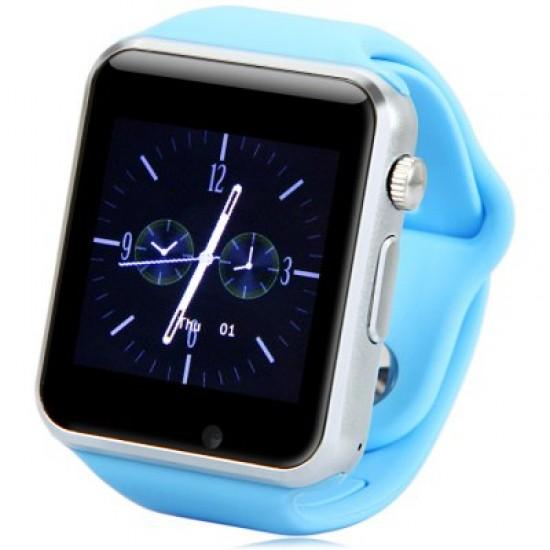 Ceas SmartWatch TarTek™ A1 PLUS BLUE - Telefon microSIM, microSD camera
