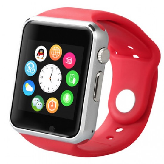 Ceas SmartWatch TarTek™ A1 PLUS RED -Telefon microSIM, microSD camera