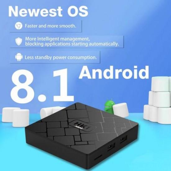 Android 8.1 Tv Box, HK1, Media Player, Quad-Core, 2gb Ram,16gb Rom, WI-FI