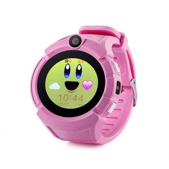 Ceas telefon Smartwatch cu GPS pentru copii TarTek™ Q610 ROZ setat in reteaua Telekom