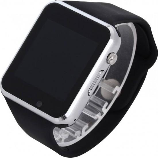 Ceas SmartWatch TarTek™ A1 PLUS - Silver Edition - Meniu in Limba Romana
