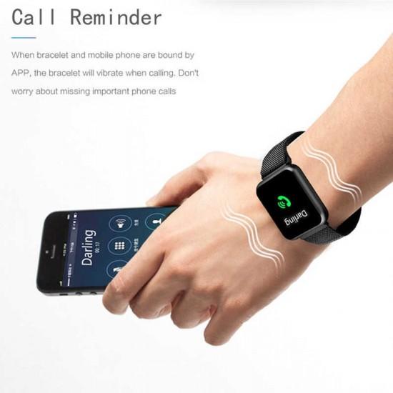 Ceas Smart TarTek M68 Black, senzor puls, tensiune arteriala